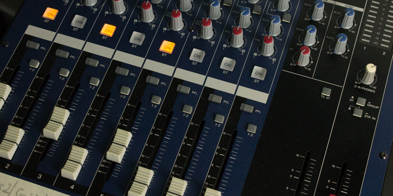 Picture of a mixing console
